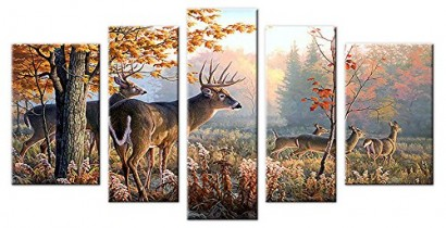Hunting 5 Panel Canvas Wall Art