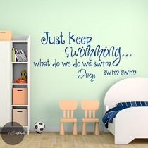 Best Just Keep Swimming Wall Decal