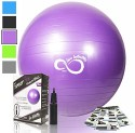 Exercise Yoga & Pilates Ball Anti Burst With Pump 55 Cm