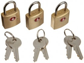 Luggage Lock Gold