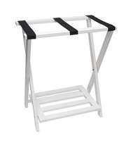 Luggage Rack In White