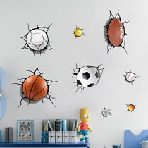Sports 3D Wall Decals